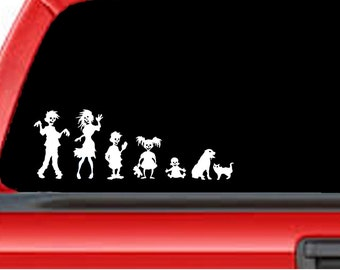 Zombie Family Decal for your car or anywhere!!