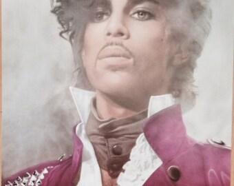 Prince Purple Rain Poster 23 x 35 original dated 1983