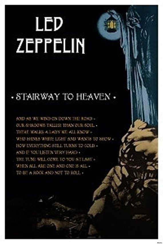 led zeppelin stairway to heaven poster 24 x 36. Black Bedroom Furniture Sets. Home Design Ideas