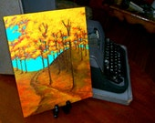 """Autumn Forest (ORIGINAL ACRYLIC PAINTING) 8"""" x 10"""" by Mike Kraus"""