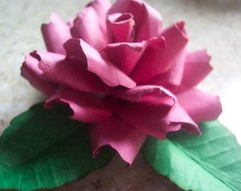 One Paper Rose of Sharon Refrigerator Magnet