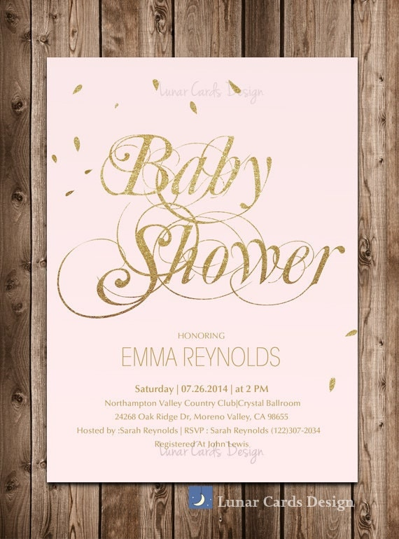 Pink And Gold Baby Shower Invites was good invitation template