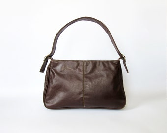 Vintage hand bag / Ladies Hand bag / Brown bag / Vegan leather bag / Faux leather bag / Everyday bag