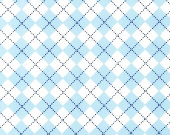 Remix Sky Argyle from Robert Kaufman Fabric