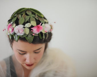 Pink Floral Headpiece