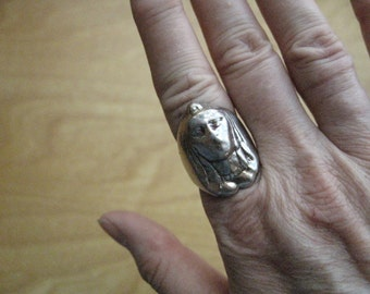 Silver Sphinx Ring - 40
