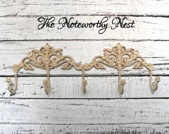 5 Hook Decorative Hook // Jewelry Hook // Utensil hook // key hook // bedroom decor // bathroom decor // kitchen decor // Jewelry Hanger