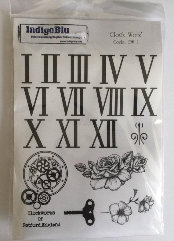 IndigoBlu 'Clock Work' rubber stamp plate