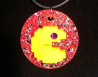 Pac Man Cameo Necklace