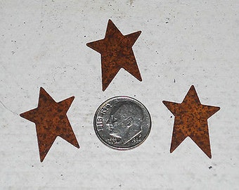 "1"" Rusty Tin Stars ...12 primitive Stars --- scrapbook, craft embelllishments"