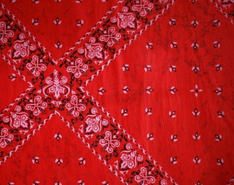 "Red Bandana / Handkerchief Tissue Paper # 283 / Gift Wrap Paper    .... 10 large sheets .. 20"" x 30"" - - Western, Cowboy"