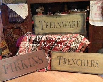Trencher-Treenware-Firkin Signs