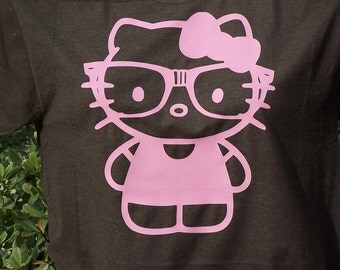 Hello Kitty with nerd glasses T-Shirt