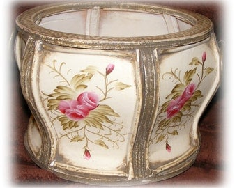 VINTAGE HANDPAINTED CONTAINER