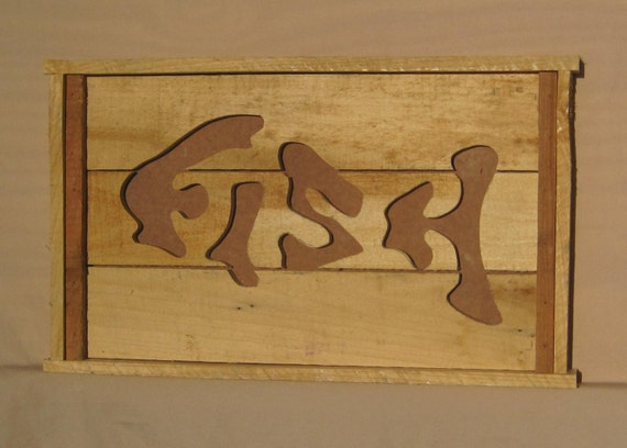 Wall Art Wood Fish : Items similar to wood wall art hanging fish