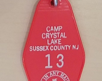 Friday the 13th Camp Crystal Lake Vintage style Keychain Jason Voorheese