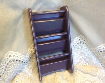 63 -Mail Organizer -Mail Sorter -Storage - Wood - Home -Office -School -Purple -Distressed