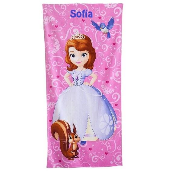 Monogrammed Princess Beach Towel: Princess Sofia & Friends Beach Towel Personalized Beach