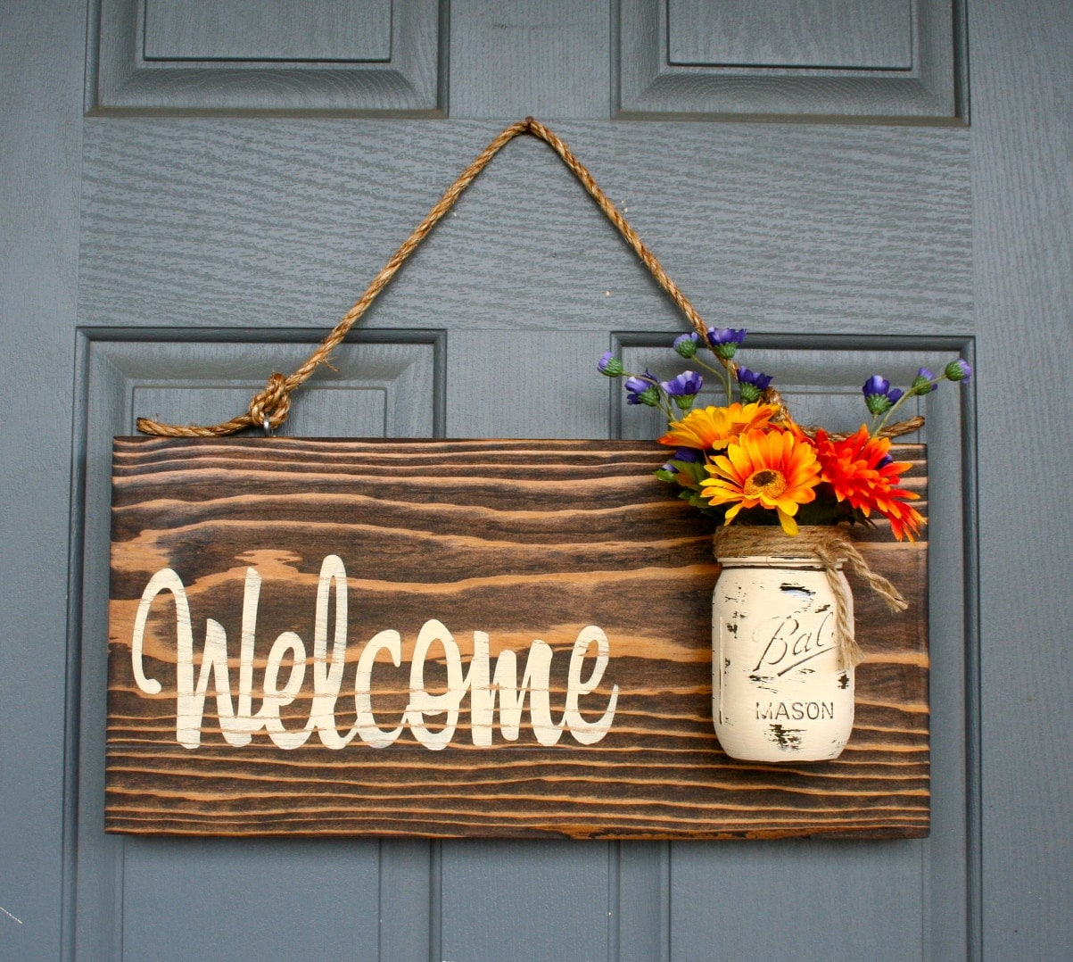 Rustic Outdoor Sign Outdoor Welcome Sign Welcome by ...