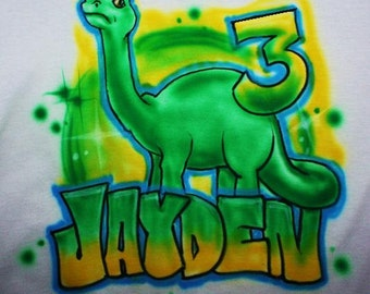 Dinosaur Birthday Party T shirt, Dinosaur Birthday Party, Safari Party, Personalized Dino T shirt, Airbrushed, Toddler T shirt, 4th birthday