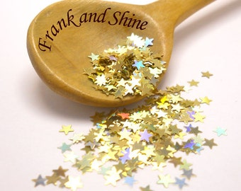 Gold Holo Stars 3mm Solvent Resistant Glitter