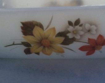 Pyrex Autumns Glory Butter Dish
