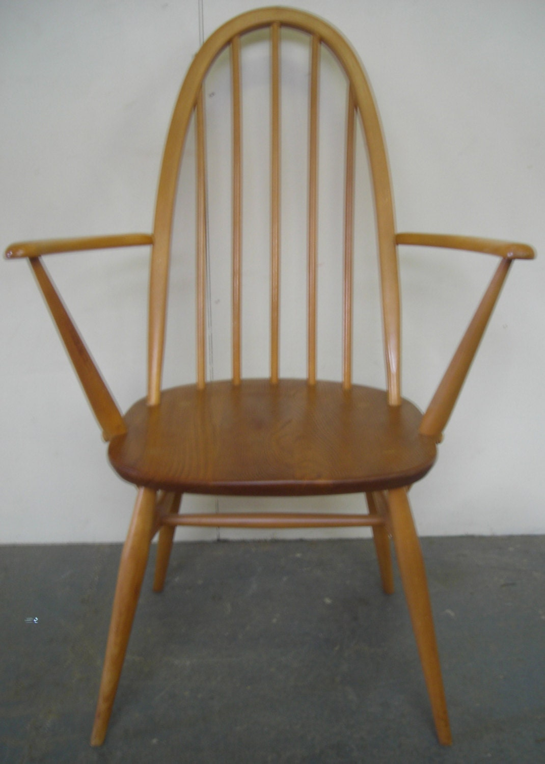 single solid oak dining room kitchen chair by ercol haute juice