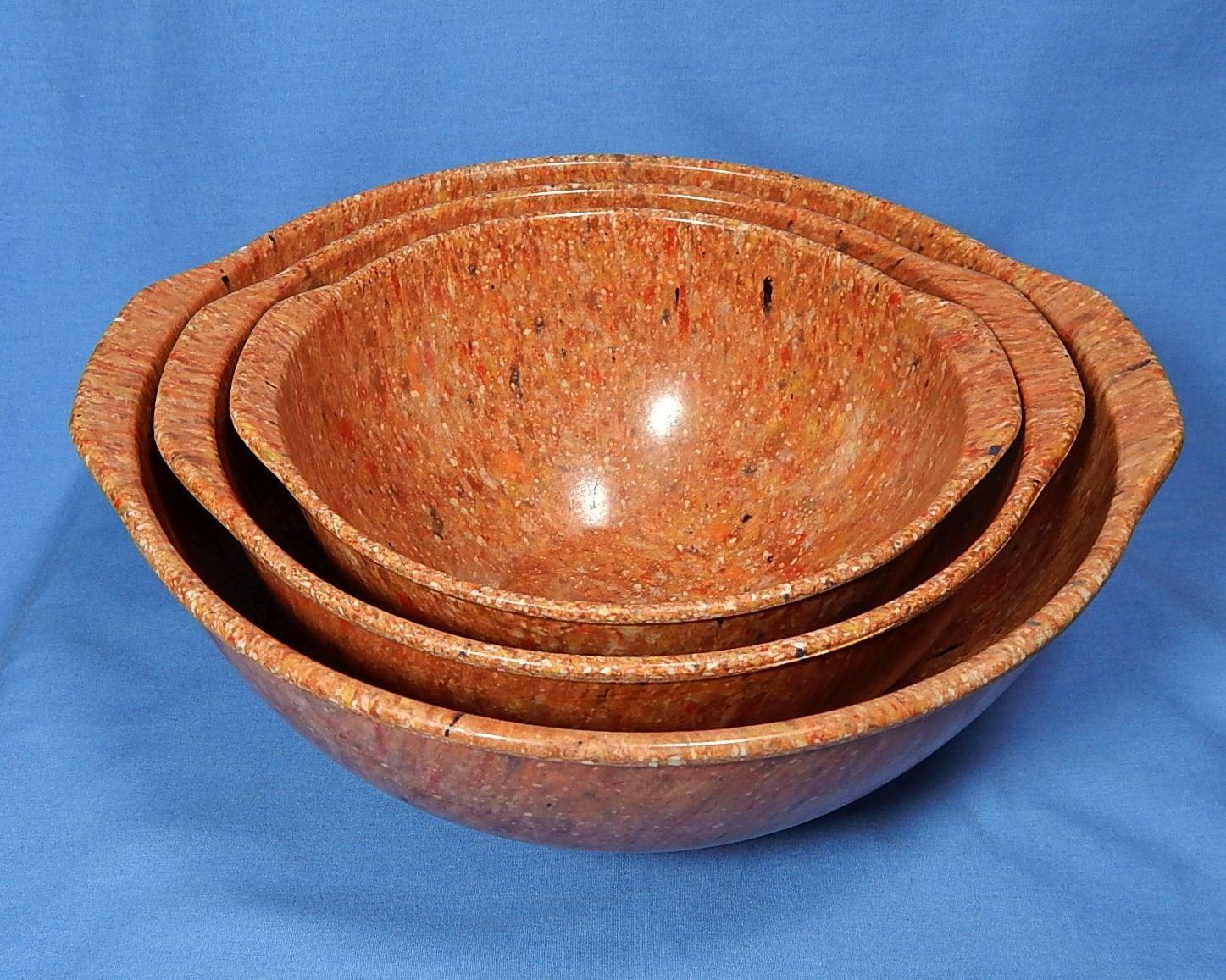Orange Melmac Bowl Set Vintage Orange Melamine Bowl Set Of 3