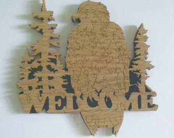 Welcome Eagle - Wall Hanging