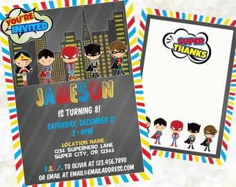 Boy Superhero Invitation - Superhero Invite - Superhero Birthday Invitation - Superhero Birthday Invite - Super Hero Digital Invitation