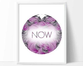 Downloadable Art Print - Purple Typography art, inspirational art,abstract word art, room decor, digital art print