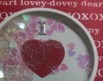 Handmade Valentine Shaker Card