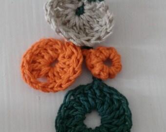 Crochet brooch multicolored