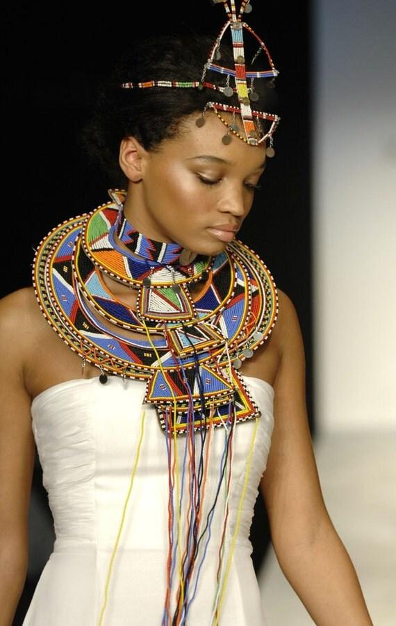 Maasai masai queen princess bridal jewelry set masai for Bride kitchen queen set
