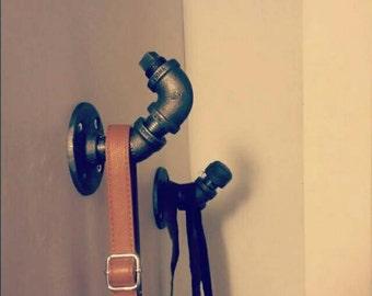 Industrial pipe hook || coat rack || towel rack || hanger || industrial chic