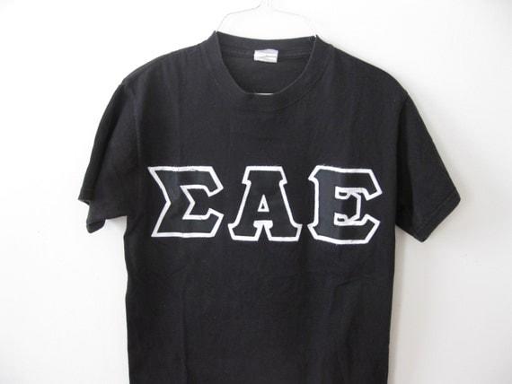 On sale vintage greek letter sigma alpha epsilon shirt frat for Greek letters for sale