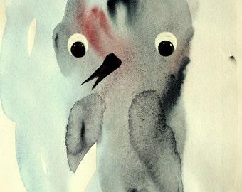 Print of riginal watercolor painting.  A4