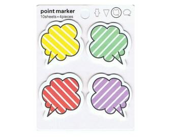 sticky notes colorful speech bubble