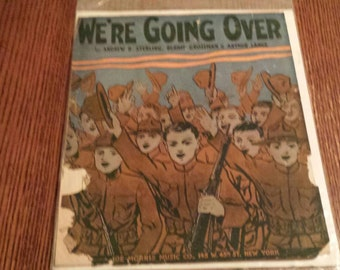 World War 1 recruiting poster songbook