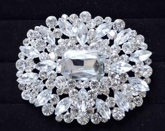 Bridal Brooch pin, Wedding Brooch, Wedding accessories, Bridal hair, big brooch, Wedding Hairstyle ,Large brooch pin,wedding jewelry brooch