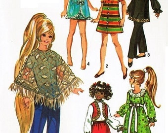 "Vintage Simplicity Pattern #9138 for 15-1/2"" Velvet / Crissy Outfits"