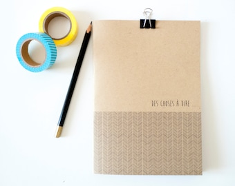 Origami kraft paper note / Notebook / Diary / Journal /
