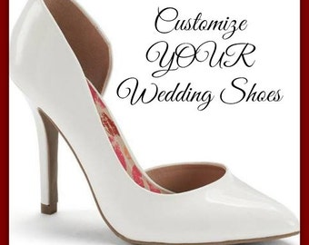 Custom Wedding Shoes, Artwork for your shoes, Hand Painted Wedding Shoes, Wedding Heels, wedding flats, wedding pumps, painted wedding shoes