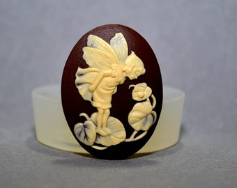 Fairy  Cameo Flexible Mold Mould For Resin Polymer Clay Chocolate Food Safe Silicone no.11