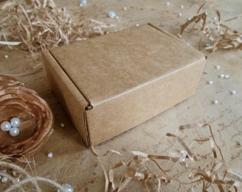 5 Pcs Small Cardboard Boxes, 4x2.75x1.45in, Packaging, Boxes, Favor Gift Packaging, Gift Box, Recycled Materials, Cardboard Boxes, Favor Box