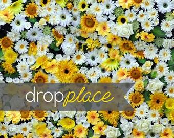 Durable Matte Vinyl Backdrop  Drop Spring Flower Flora Wall Photo Background  Prop Daisy Wedding Newborn (Multiple Sizes Available)
