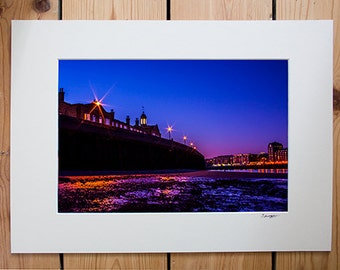A4 Mounted print - The Thames at Rotherhithe