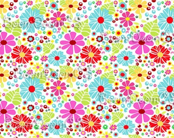 Floral simple background. Vector seamles flower daisy pattern