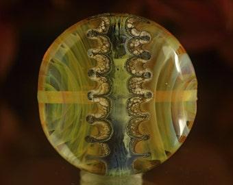 Mahulena - Lampwork focal lentil bead