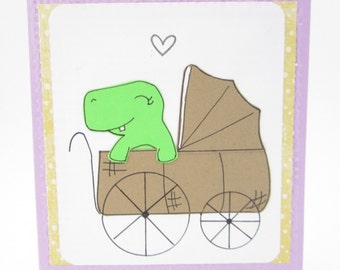 Congratulations on your Baby - Baby Dinosaur Baby Card